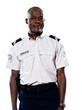 Portrait of mature policeman