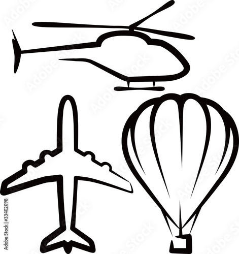 simple illustration with air transport