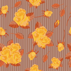 seamless yellow roses