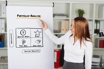 frau erklärt portfolio-analyse