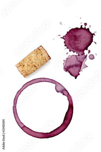 Foto op Canvas Bar alcohol drink wine stain liquid cork opener