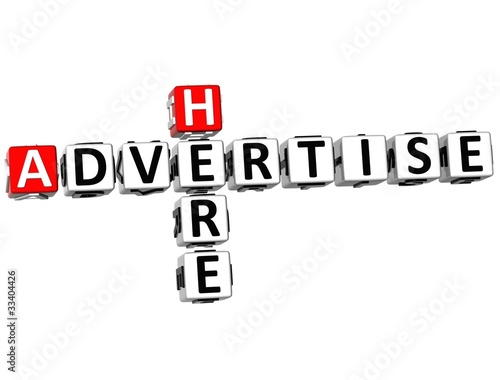 3D Advertise Here Crossword