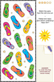 Colorful flip-flops visual logic puzzle poster