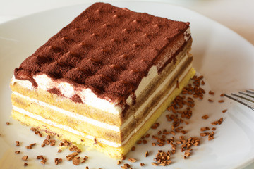 Typical Italian dessert called tiramisu