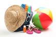 Leinwandbild Motiv Beach items