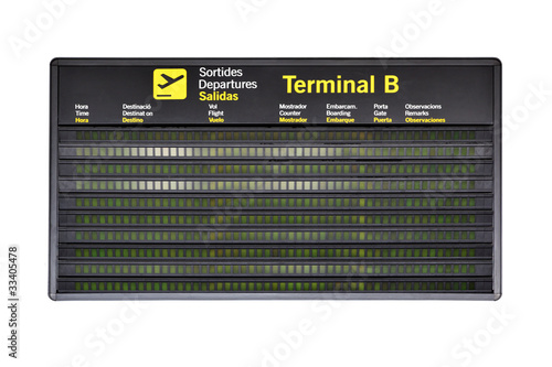 Airport timetable - 33405478