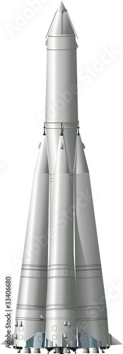 Vector first space rocket with first satellite