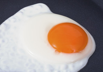 Fried egg on the pan