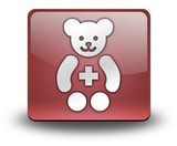 "Red 3D Effect Icon ""Pediatrics"""