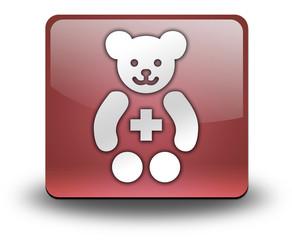 "Red 3D Effect Icon ""Pediatrics"""