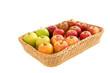Apfelsorten auf einem Tablett