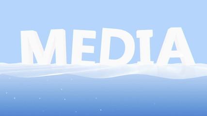 Media on blue