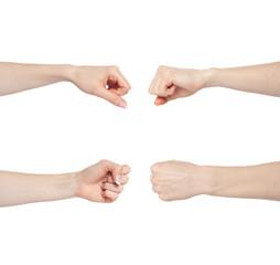 Hand gesture set fist
