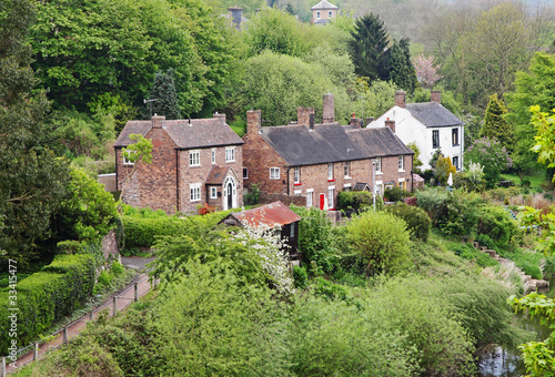 An English Rural Hamlet set in a wooded Valley