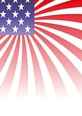 Background with elements of USA flag, vector