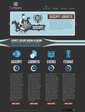 Website design template with infographics poster