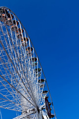 Ferris wheel in white