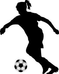 Silhouette Fußballspielerin