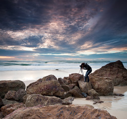 photographer by the ocean