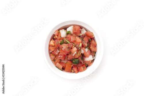 Fresh salsa in a bowl