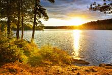 Sonnenuntergang über See