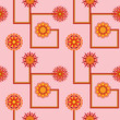 Retro Flower Seamless Wallpaper Pattern