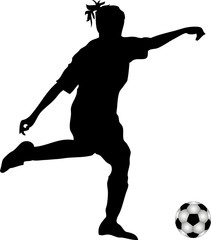 Silhouette Frauenfussball