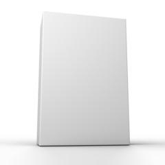 Blank box isolated on white