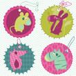 Design elements for baby scrapbook