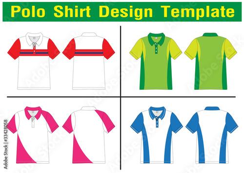 polo shirt design vector template. Black Bedroom Furniture Sets. Home Design Ideas