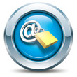 E-Mail - Sicherheit - Button blau
