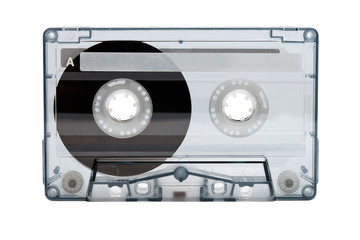 old compact audio cassette (tape)