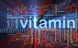 Vitamins health background concept glowing
