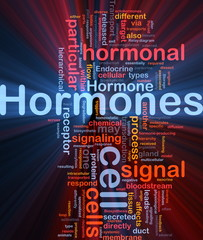 Hormones hormonal background concept glowing