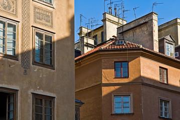 Häuser in der Altstadt von Warschau