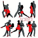 Fototapety Salsa silhouettes set