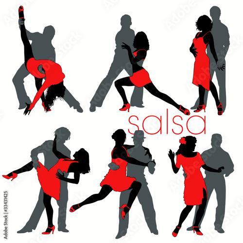 Salsa silhouettes set - 33431425