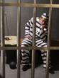Un preso en un calabozo.