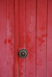 door in red with metal handler