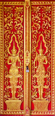 art on temple door