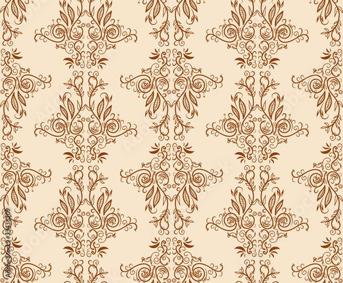 Seamless floral hand draw pattern background