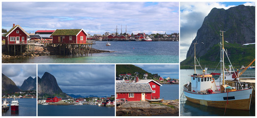 The coastal town of Reine on the Lofoten, Norway