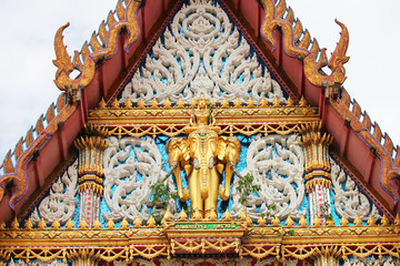 Temple roof in Bangkok, Thailand.