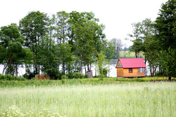 sauna on the lake shore