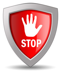 Stop shield icon
