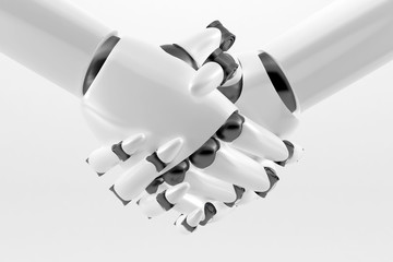 Robotic handshake isolated