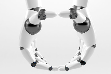Two Robotic hands together