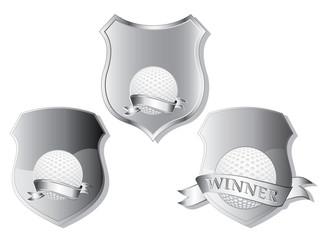 golf shields vector