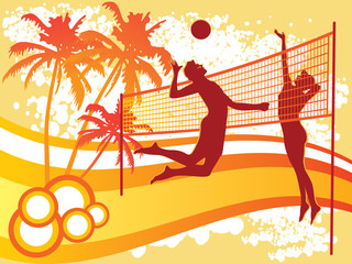 beach volley vector