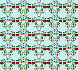 pattern with apple seamless texture